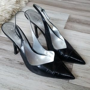 Guess Sling Back Pumps